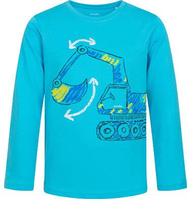 Endo - T-shirt z długim rękawem dla chłopca, z koparką, niebieski, 2-8 lat C04G215_1 16