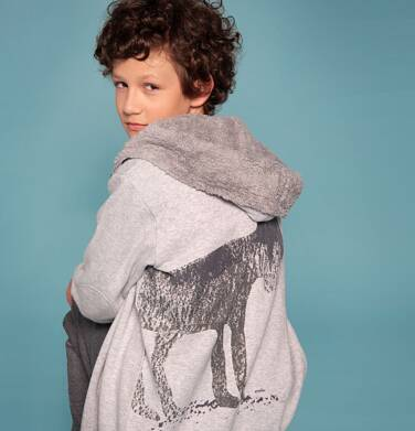 """Endo - """"Wilk Szary"""" Bluza z kapturem rozpinana dla chłopca 3-8 lat C82C506_1"""