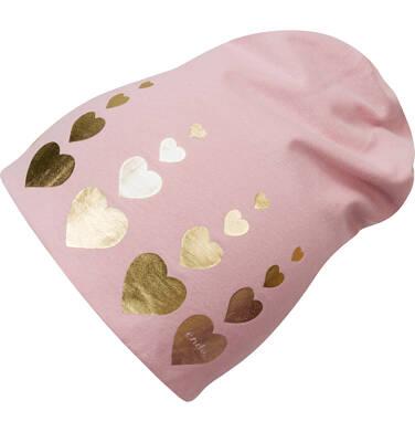 Endo - Czapka dla dziewczynki, z nadrukiem, różowa D03R023_1 218
