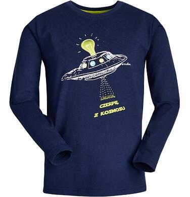 """Endo - """"Energię czerpię z kosmosu"""" T-shirt z długim rękawem dla chłopca 9-13 lat C82G610_1"""