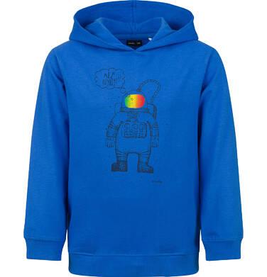 Endo - Bluza z kapturem dla chłopca, z astronautą, niebieska, 2-8 lat C03C039_1 6