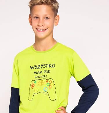 """Endo - """"Wszystko mam pod kontrolą"""" T-shirt z długim rękawem dla chłopca 3-8 lat C82G111_1"""