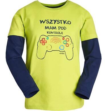 """Endo - """"Wszystko mam pod kontrolą"""" T-shirt z długim rękawem dla chłopca 9-13 lat C82G611_1"""
