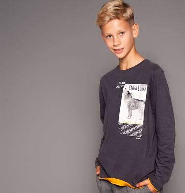 """Endo - """"Wilk Szary"""" T-shirt z długim rękawem dla chłopca 3-8 lat C82G049_1"""
