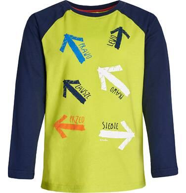"""Endo - """"Zawsze przed siebie"""" T-shirt z reglanowym rękawem dla chłopca 3-8 lat C82G112_1"""