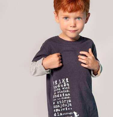 """Endo - """"Wilki budują silną więź ze stadem"""" T-shirt z długim rękawem dla chłopca 3-8 lat C82G052_1"""