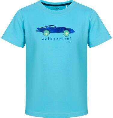 Endo - T-shirt z krótkim rękawem dla chłopca, z autoportretem, niebieski, 9-13 lat C03G647_1
