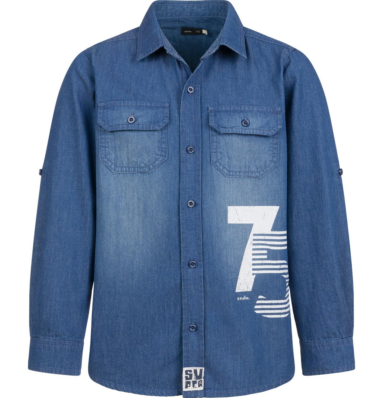 Endo - Koszula jeansowa dla chłopca, 9-13 lat C03F510_1