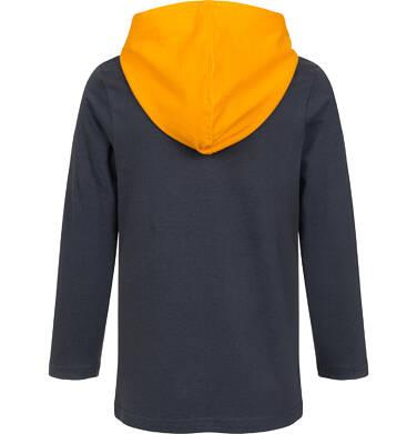 Endo - T-shirt z długim rękawem i kapturem dla chłopca, z samochodem pomocy drogowej, grafitowy, 2-8 lat C04G221_1 18