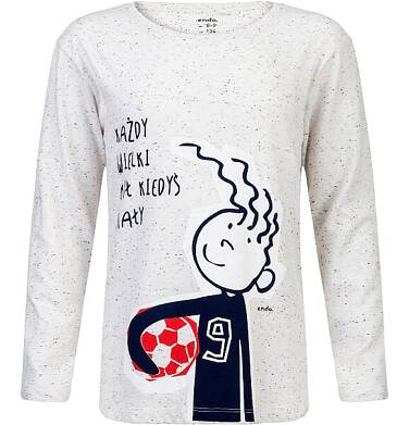 """Endo - """"Każdy wielki był kiedyś mały"""" T-shirt z długim rękawem dla chłopca 3-8 lat C82G115_1"""