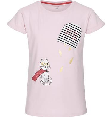 T-shirt z krótkim rękawem dla dziewczynki 9-13 lat D91G571_1