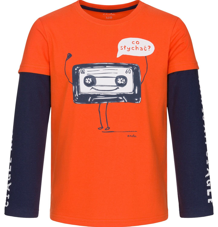 Endo - T-shirt z długim rękawem dla chłopca 9-13 lat C92G615_1