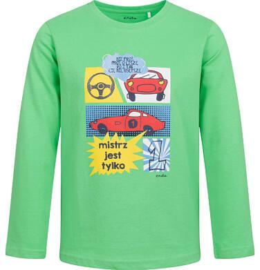 Endo - T-shirt z długim rękawem dla chłopca, z samochodami, zielony, 2-8 lat C04G191_1 22