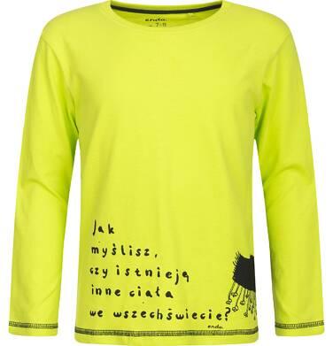 """Endo - """"Jak myślisz, czy istnieją inne ciała we wszechświecie?"""" T-shirt z długim rękawem  dla chłopca 3-8 lat C82G057_1"""