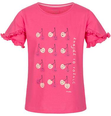 Endo - Bluzka z krótkim rękawem dla dziewczynki 3-8 lat D91G036_1