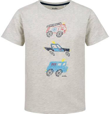 Endo - T-shirt z krótkim rękawem dla chłopca, służby ratunkowe, szary, 2-8 lat C03G156_1