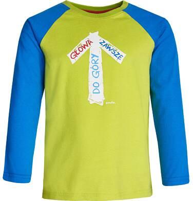 """Endo - """"Głowa zawsze do góry"""" T-shirt z długim rękawem dla chłopca 3-8 lat C82G113_1"""