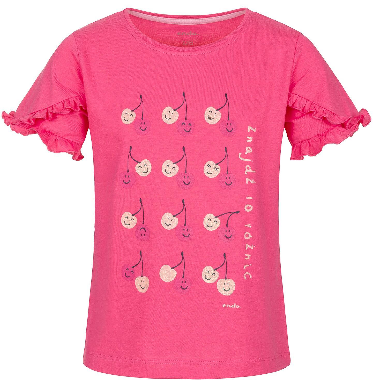 Endo - Bluzka z krótkim rękawem dla dziewczynki 9-13 lat D91G536_1