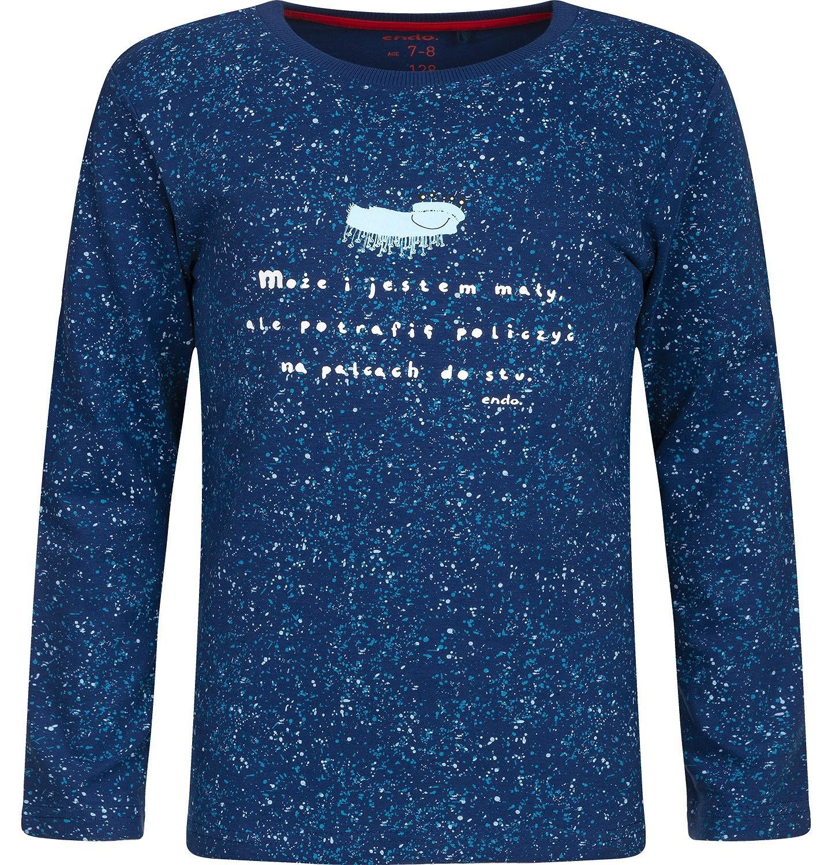 """Endo - """"Może i jestem mały, ale potrafię policzyć na palcach do stu."""" T-shirt z długim rękawem dla chłopca 3-8 lat C82G064_1"""