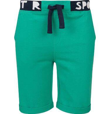 Endo - Krótkie spodenki dresowe dla chłopca, zielone, 9-13 lat C03K503_1 23