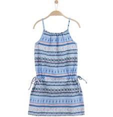 Endo - Letnia sukienka we wzorzysty deseń dla dziewczynki D61H038_1