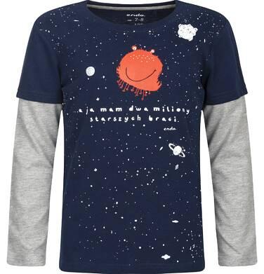 """Endo - """"A ja mam dwa miliony starszych braci"""" T-shirt z długim rękawem dla chłopca 3-8 lat C82G066_1"""
