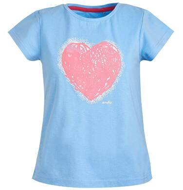 Endo - Bluzka z krótkim rękawem dla dziewczynki 3-8 lat D81G030_1