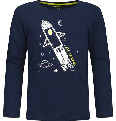 """Endo - """"Ale kosmos"""" T-shirt z długim rękawem dla chłopca 3-8 lat C82G070_1"""