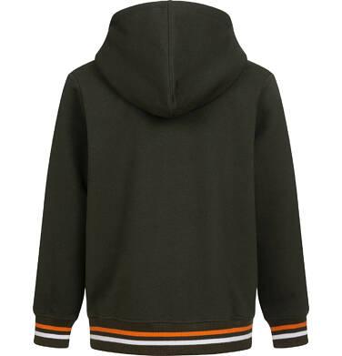 Endo - Rozpinana bluza z kapturem dla chłopca, kaptur podszyty misiem, z niedźwiedziem, brązowa, 2-8 lat C04C053_1,3