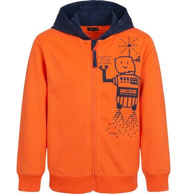 Bluza rozpinana z kapturem dla chłopca, pomarańczowa, 2-8 lat C04C044_1