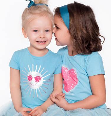 Endo - Bluzka z krótkim rękawem dla dziewczynki 3-8 lat D81G032_2