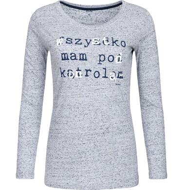 """Endo - """"Wszystko mam pod kontrolą"""" Bluzka damska z długim rękawem Y82G004_1"""