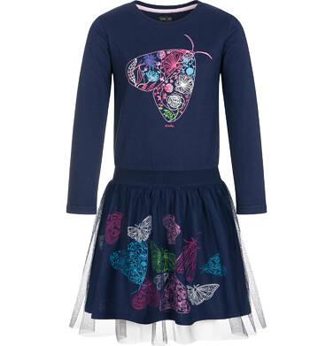 Endo - Sukienka z długim rękawem dla dziewczynki 9-13 lat D92H561_1 12