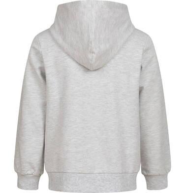 Endo - Rozpinana bluza z kapturem dla dziewczynki, z królikiem, szary melanż, 9-13 lat D04C060_1 17