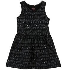 Endo - Sukienka we wzorzysty deseń dla dziewczynki D61H045_1