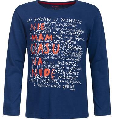 """Endo - """"Nie mam czasu na nudę"""" T-shirt z długim rękawem dla chłopca 3-8 lat C82G090_1"""