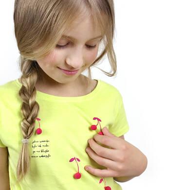 T-shirt z krótkim rękawem dla dziewczynki 3-8 lat D91G042_1