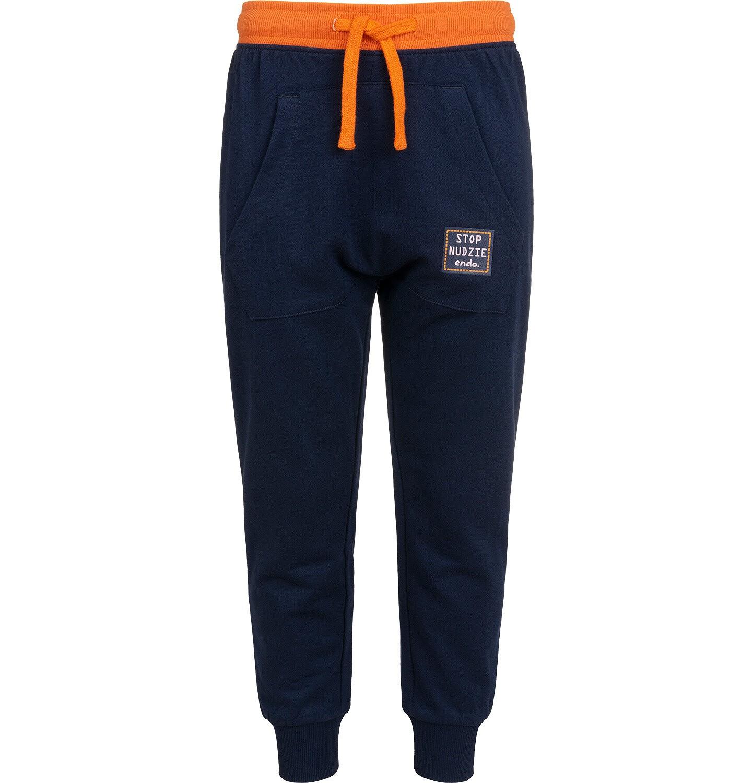 Endo - Spodnie dresowe dla chłopca, granatowe, 2-8 lat C04K021_2