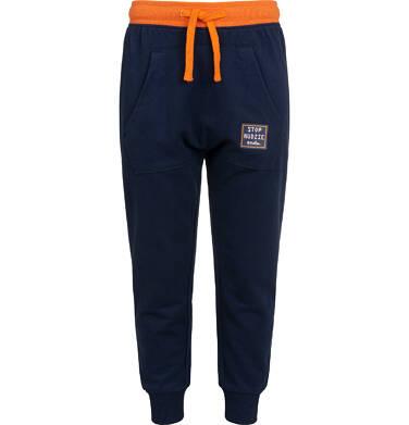 Endo - Spodnie dresowe dla chłopca, granatowe, 2-8 lat C04K021_2 3