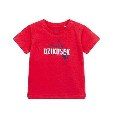 Endo - T-shirt dla dziecka do 2 lat, z napisem mały dzikusek, czerwony N06G010_1 12