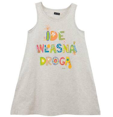 Endo - Melanżowa sukienka na ramiączkach dla dziewczynki D61H058_1