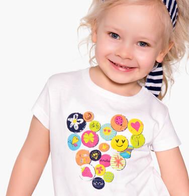 Endo - Bluzka z krótkim rękawem dla dziewczynki 3-8 lat D81G037_1