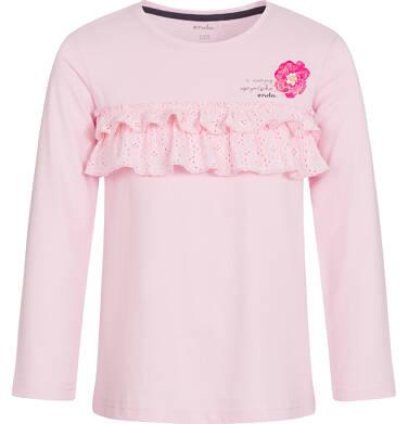 Endo - Bluzka z długim rękawem dla dziewczynki 3-8 lat D92G112_1