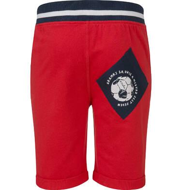 Endo - Krótkie spodenki dresowe dla chłopca, czerwone, 2-8 lat C03K004_2,2