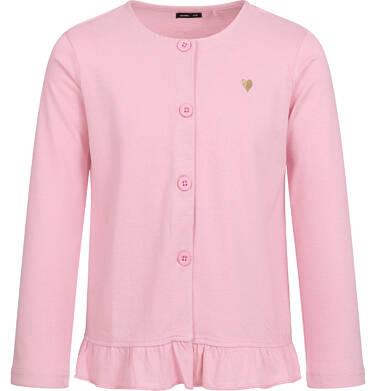Bluza rozpinana dla dziewczynki, różowa, 2-8 lat D04C015_1