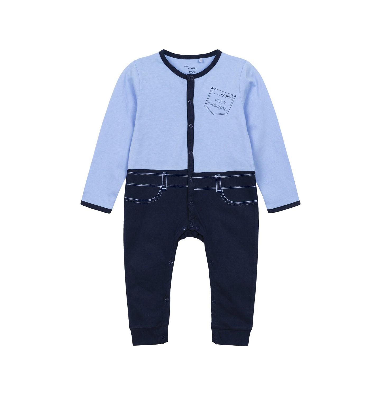 Endo - Pajac dla dziecka do 3 lat, ważna osobistość, niebieski N82N016_1