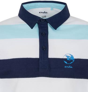 Endo - Koszulka polo z długim rękawem dla chłopca 3-8 lat C91G059_2