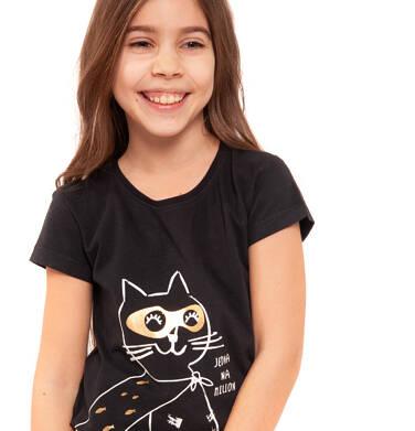 T-shirt z krótkim rękawem dla dziewczynki 3-8 lat D91G072_1