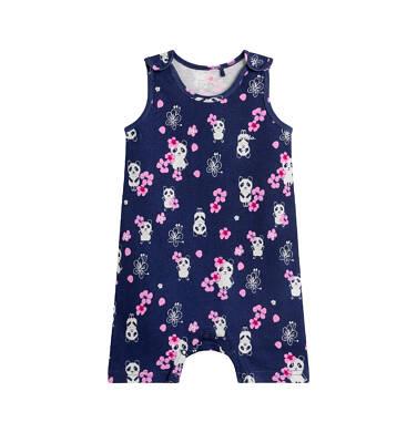 Endo - Rampers dla dziecka do 2 lat, z pandą w kwiatach, granatowy N03N015_1 9