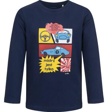 Endo - T-shirt z długim rękawem dla chłopca, z samochodami, granatowy, 2-8 lat C04G191_2 33